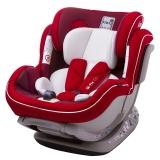 kiwy原装进口宝宝汽车儿童安全座椅isofix硬接口 0-4-7岁 新生儿双向可躺 诺亚 至尊红