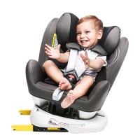 瑞贝乐reebaby360度旋转汽车儿童安全座椅ISOFIX接口 0-4-6-12岁婴儿宝宝新生儿可躺安全座椅 银河灰