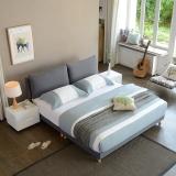 A家家具 床 布艺床 北欧卧室1.5米双人床 现代简约可拆洗软靠床 DA0120-150 灰色