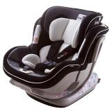kiwy原装进口宝宝汽车儿童安全座椅isofix硬接口 0-4-7岁 新生儿双向可躺 诺亚 典雅黑