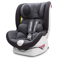 安默凯尔 汽车儿童安全座椅isofix硬接口 0-12岁360旋转坐躺可调宝宝座椅 全能盾 星空灰