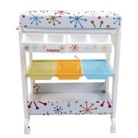 COSATTO英国进口多功能婴儿浴盆 自带整理台 浴缸 储物盘 脚轮 新生儿可用-约15个月 雪花