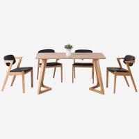 好事达易美 定制实木1.4米白橡木餐桌椅(1桌+4椅)TC010