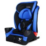 步达达(BUDADA)德国汽车儿童安全座椅isofix硬接口9个月-12岁 F8 蓝色
