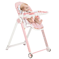 爱音(Aing)儿童餐椅 欧式多功能婴儿餐椅四合一宝宝餐椅可折叠便携JA619粉色