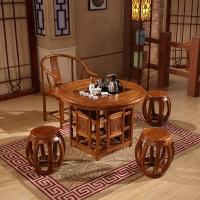 中伟实木茶桌实木茶台功夫茶桌中式茶几桌椅组合