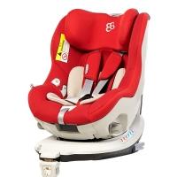 宝贝第一汽车儿童安全座椅0-4岁360度旋转 ISOFIX 企鹅萌军团3C认证 经典红
