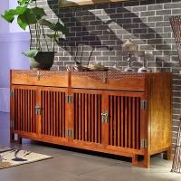 粤顺 红木餐边柜 新中式储物柜厨房家具实木置物柜 X05