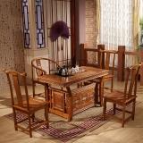 中伟实木茶桌椅组合功夫茶桌中式茶几桌实木茶台1300*680*740
