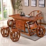 中伟实木茶桌椅组合实木茶台功夫茶桌中式茶几桌1600*800*720