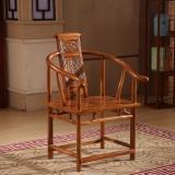 中伟实木茶桌椅仿古中式休闲餐椅圈椅太师椅仿古榆木椅卷书椅