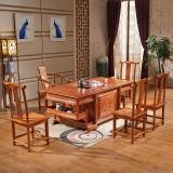 中伟实木茶桌功夫茶桌中式茶几桌实木茶台桌椅组合1800*900*760