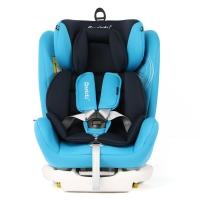 瑞贝乐reebaby汽车儿童安全座椅ISOFIX接口 0-4-6-12岁婴儿宝宝新生儿可躺安全座椅 博学蓝