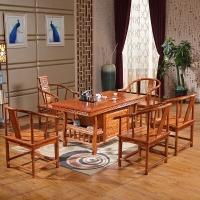 中伟实木茶桌椅组合功夫茶桌中式茶几桌泡茶台1480*780*720