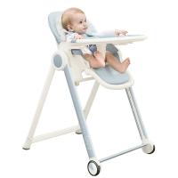 爱音(Aing)JA619儿童餐椅 欧式多功能婴儿餐椅四合一宝宝餐椅可折叠便携蓝色JOY版