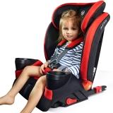 步达达(BUDADA)德国汽车儿童安全座椅isofix硬接口9个月-12岁 F8 红色