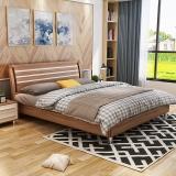 A家家具 床 实木床 现代简约卧室双人床 1.5米架子床 床*1+床垫*1 A001-150