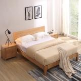 A家家具 北欧实木床 双人床1.8米卧室婚床现代简约 架子床 1.8米床+床垫*1 BA002-180