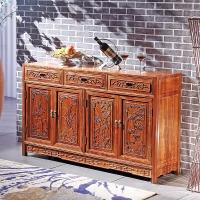 粤顺 红木餐边柜 实木餐柜中式餐厅家具花梨木储物柜 G57