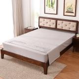 家逸床北欧实木床卧室现代简约1.5米白橡木胡桃色