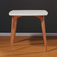 百思宜 餐桌现代简约饭桌欧式北欧小户型奶茶店简易方桌长桌 80*80白色