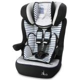 塞诺堡汽车安全座椅isofix 9个月-12岁婴儿宝宝儿童车载安全座椅 一体式isofix硬接口 早安巴黎蓝