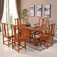 中伟实木茶桌实木茶台功夫茶桌中式茶几桌椅组合1600*800*720