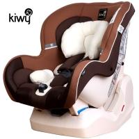 kiwy原装进口宝宝汽车儿童安全座椅0-4岁 新生婴儿双向可躺 哈雷骑士 摩卡棕