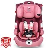 感恩(ganen)宝宝汽车儿童安全座椅阿瑞斯 钢骨架汽车isofix硬接口 9个月-12岁公主粉