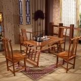 中伟实木茶台功夫茶桌中式茶几桌实木茶桌椅组合1200*660*660