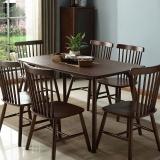 中伟餐桌家用餐桌椅组合实木餐桌椅北欧现代简约1200*805*750含4椅胡桃色