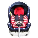 瑞贝乐reebaby汽车儿童安全座椅ISOFIX接口 0-4-6-12岁婴儿宝宝新生儿可躺安全座椅 美国队长