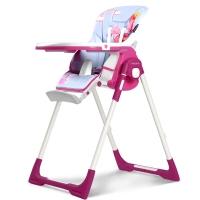 法国babysing多功能儿童餐椅便携可折叠宝宝椅现代简约婴幼儿吃饭餐椅 A502A 紫色浪漫