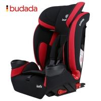 步达达(BUDADA)德国汽车儿童安全座椅isofix宝宝0-9个月-12岁 F8 高雅红