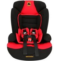 塞诺堡汽车儿童安全座椅 9个月-12岁宝宝儿童安全座椅汽车用 星盾-斯基波红 (安全带固定)