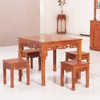 粤顺红木餐桌 花梨木餐台 实木餐桌椅组合 Z33