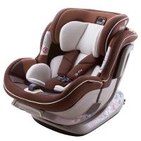 kiwy原装进口宝宝汽车儿童安全座椅isofix硬接口 0-4-7岁 新生儿双向可躺 诺亚  摩卡棕