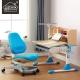 溢彩年华  学习桌椅套装 可升降学生桌经典1米L型成长书桌套餐 海洋蓝  YCX1010L+YCX2005L