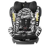 Zazababy儿童安全座椅 isofix硬接口 0-12岁宝宝汽车坐椅 精灵骑士斑马色