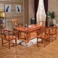 中伟实木茶桌椅组合中式实木茶台仿古功夫茶桌茶几桌茶艺泡茶桌1700*800*750mm