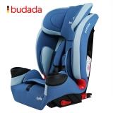 步达达(BUDADA)德国汽车儿童安全座椅isofix宝宝0-9个月-12岁 F8 优雅蓝