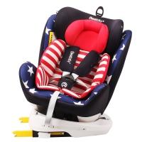 瑞贝乐reebaby360度旋转汽车儿童安全座椅ISOFIX接口 0-4-6-12岁婴儿宝宝新生儿可躺安全座椅 美国队长