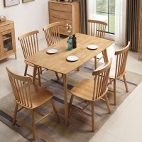 中伟餐桌家用餐桌实木餐桌北欧现代简约1200*805*750原木色