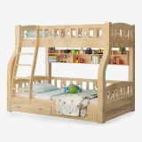 好事达易美定制松木上下床 小户型简约子母床  高低实木床1.5米(书架+抽屉款)129