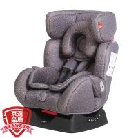 gb好孩子高速汽车儿童安全座椅 欧标五点式安全带 双向安装 CS718-N004 灰色满天星 (0-7岁)