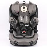 瑞贝乐reebaby儿童安全座椅宝宝婴儿汽车用坐椅9个月-12岁钢架款车载安全座椅 蒙德拉小熊灰色