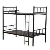 中伟双层床上下铺铁床铁艺家用床宿舍公寓床2000*900*1800mm黑色