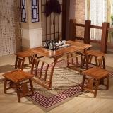 中伟实木茶桌功夫茶桌中式茶几桌实木茶台桌椅组合1200*660*660