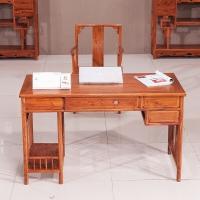 粤顺红木电脑桌 花梨木办公桌椅组合 实木办公台 YS2001