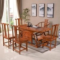 中伟实木茶桌功夫茶桌中式茶几桌实木茶台桌椅组合1600*800*720